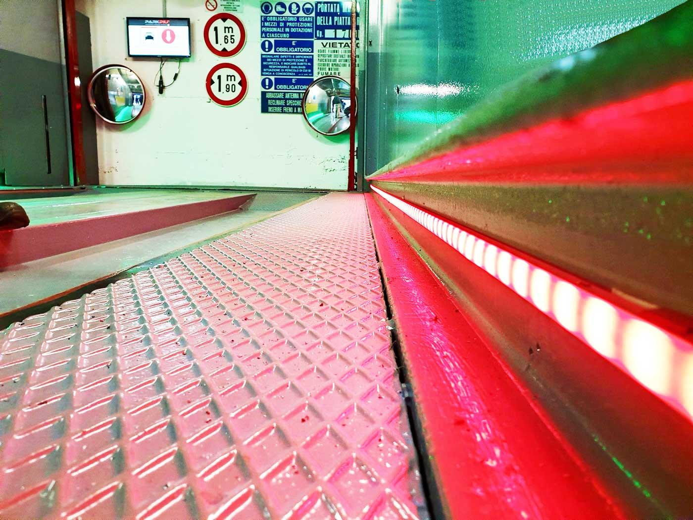 Restauración del aparcamiento automático Milán - Noria