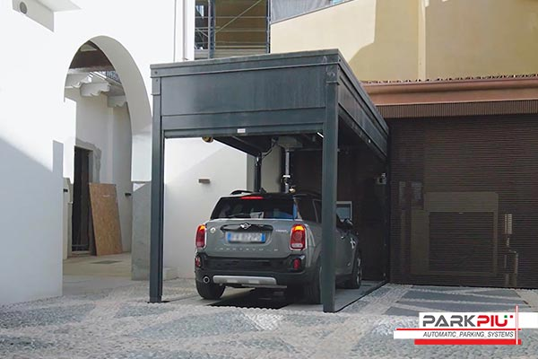 Aparcamiento automatizado para un condominio privado en Milán
