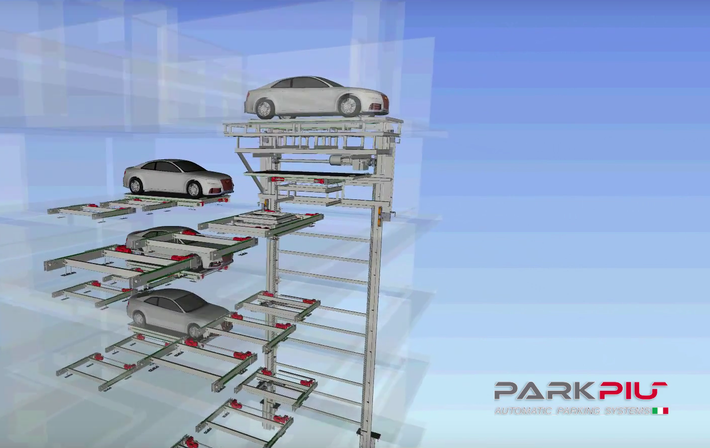 New installation automatic parking in Milan