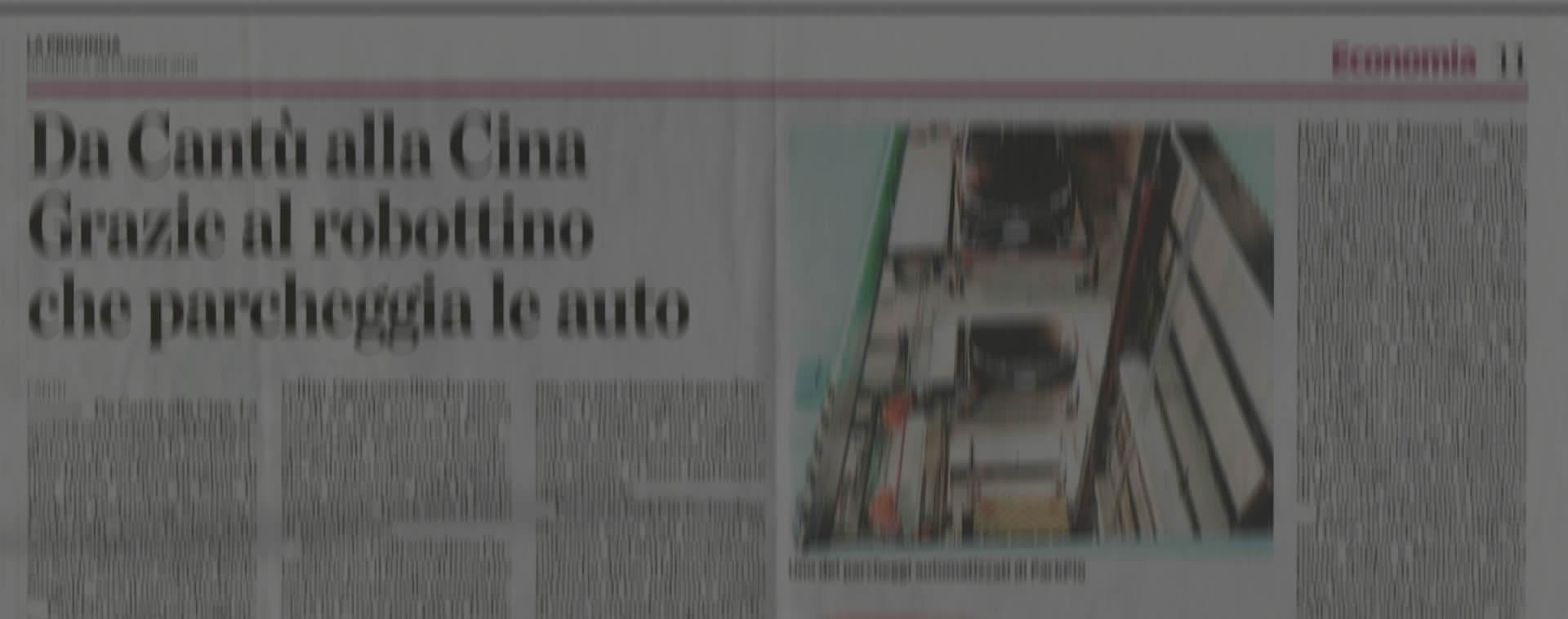 La Provincia: de Cantù a China gracias al robot que se aparca solo
